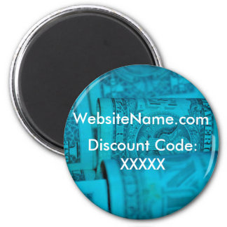 Website Promotion Design With Discount Code Option 6 Cm Round Magnet