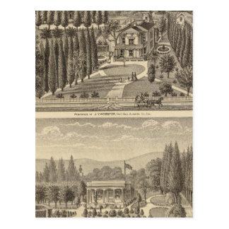 Webster, Badger residences Postcard
