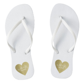 wed love celebration personalized gold heart thongs