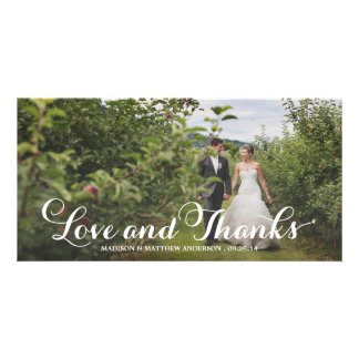 Wedded Bliss | Wedding Thank You Photo Card