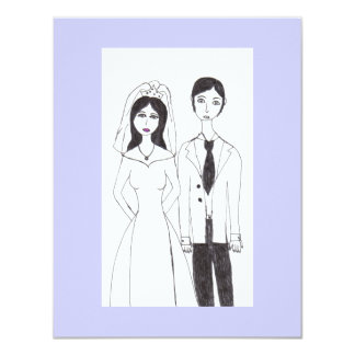 wedding 11 cm x 14 cm invitation card
