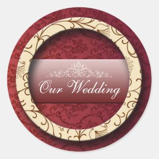 Wedding 2 classic round sticker