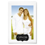 Wedding - 4 x 6 Black and White Border Photo Art
