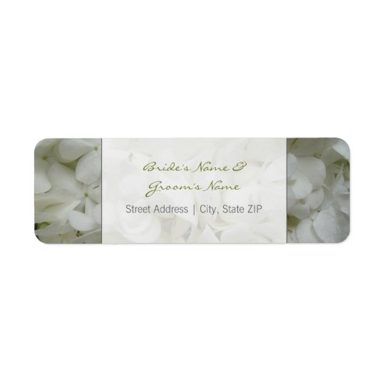 Wedding Address Label - White Flowers