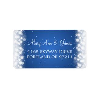 Wedding Address Love Magic Sparkle Blue Address Label