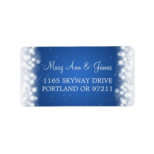 Wedding Address Love Magic Sparkle Blue Label