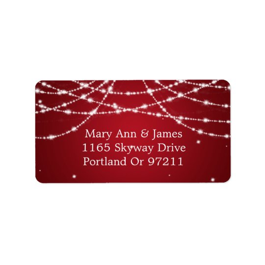 Wedding Address Sparkling String Red Label