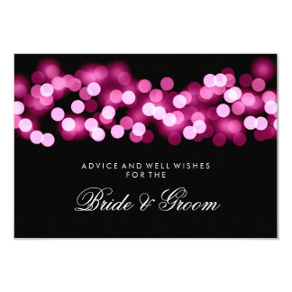 Wedding Advice Card Pink Hollywood Glam