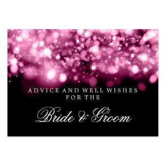 Wedding Advice Card Pink Sparkling Lights Business Card