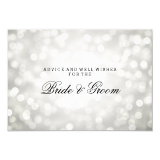 Wedding Advice Card Silver Glitter Lights 9 Cm X 13 Cm Invitation Card
