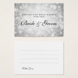 Wedding Advice Card Silver Winter Wonderland