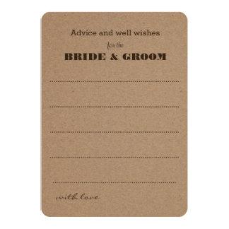 Wedding Advice  | Rustic Kraft Paper 13 Cm X 18 Cm Invitation Card