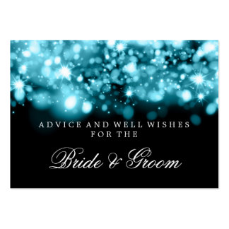 Wedding Advice Turquoise Sparkling Lights Business Card Templates