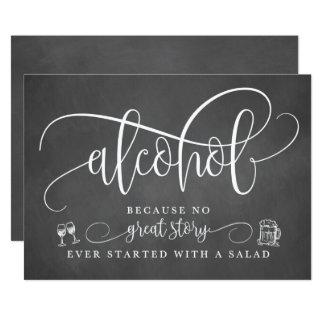 Wedding Alcohol Bar Sign Card
