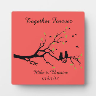 Wedding and Anniversary Tabletop Plaque with Easel