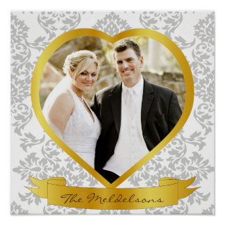 Wedding and couple photo frames poster