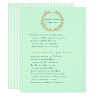 Wedding and Reception Directions Card