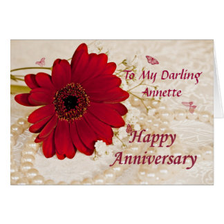 Wedding anniversary, a daisy flower card
