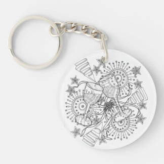 Wedding, Anniversary, Bridesmaids, Grooms gifts Double-Sided Round Acrylic Key Ring