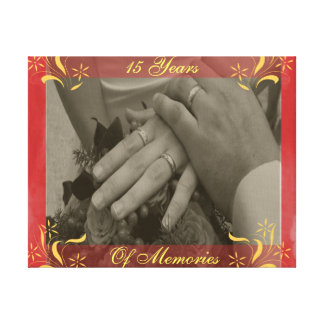Wedding Anniversary Canvas Print