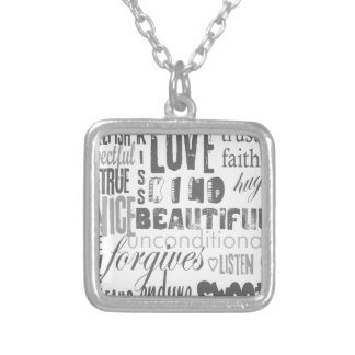 Wedding Anniversary Corinthians Faith Hope Love Silver Plated Necklace