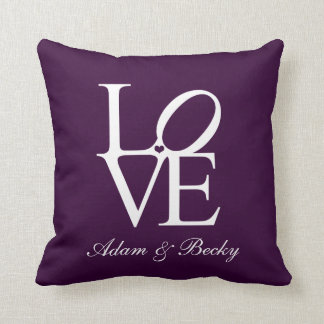 wedding anniversary cushion personalised Love
