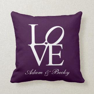 wedding anniversary cushion personalised Love
