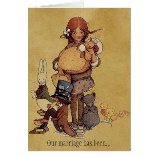 Wedding Anniversary in Wonderland Cards