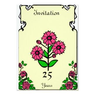 Wedding Anniversary Invitation, Customiseable 13 Cm X 18 Cm Invitation Card