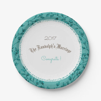 WEDDING-ANNIVERSARY-LEAVES-BLUE-TEMPLATE PAPER PLATE