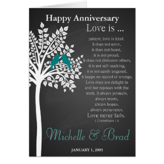 Wedding anniversary Love is....card  wedding gift Greeting Card