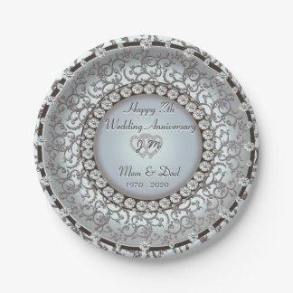 Wedding Anniversary Monogram Plate