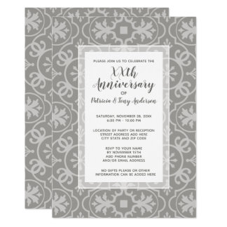 Wedding Anniversary Party Modern Pattern Any Year Card