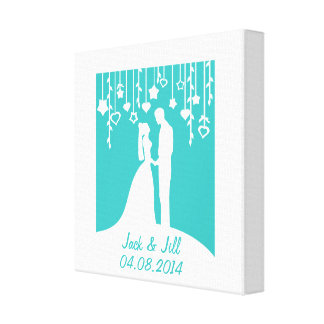 Wedding Anniversary personalized names & date Gallery Wrapped Canvas