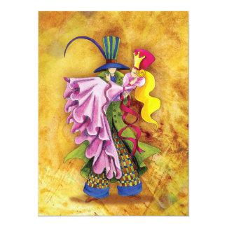 Wedding /  Anniversary / Romantic Event - SRF 14 Cm X 19 Cm Invitation Card