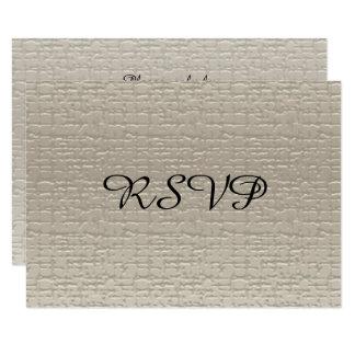 Wedding Anniversary RSVP Cards, White-Gold Card
