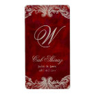 Wedding Anniversary Wine Label Antique Roses Red