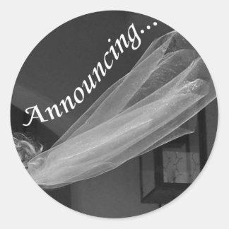 Wedding Announcement Round Sticker