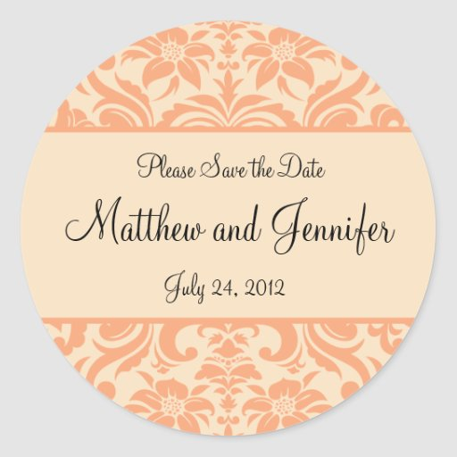Wedding Announcement Save the Date Sticker Stickers