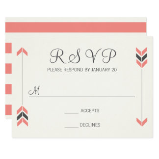 Wedding Arrows - RSVP Card