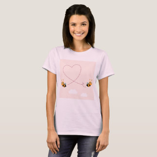 Wedding artistic t-shirt with Bees