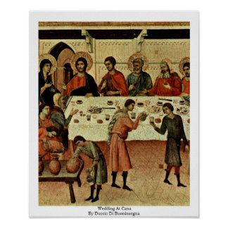 Wedding At Cana By Duccio Di Buoninsegna Poster