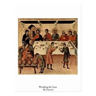 Wedding At Cana By Duccio Postcard