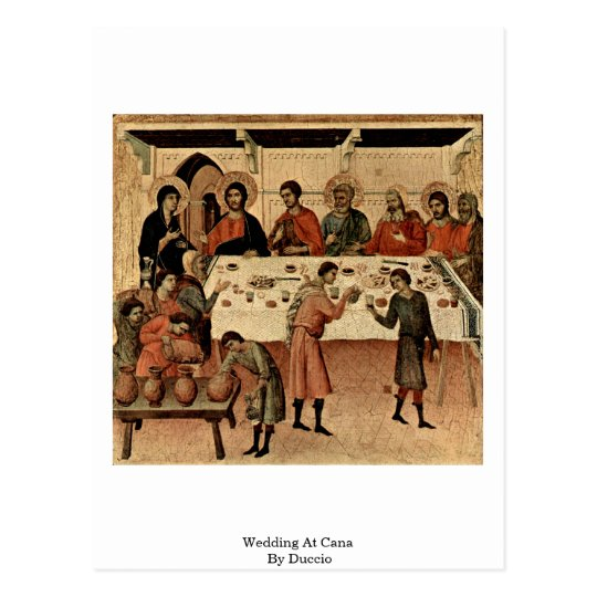 Wedding At Cana By Duccio Postcard