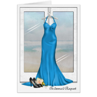 Wedding Attendant Request Greeting Card