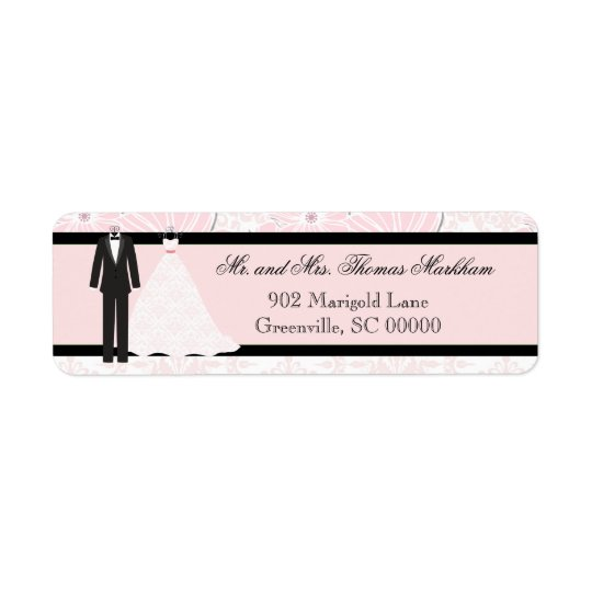 Wedding Attire Personalised Address Labels