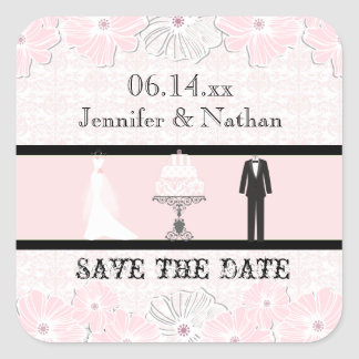 Wedding Attire Save the Date Stickers