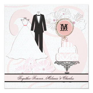 Wedding Attire Square Wedding Invitation