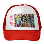 Wedding - Bachelorette Hat - Red Mexican Couple