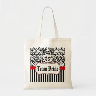 wedding bag,bachelorette bag,Team Bride Budget Tote Bag